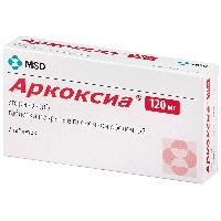Аркоксиа таб. п.п.о. 120мг №7