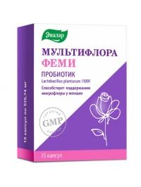 Мультифлора Эвалар феми пробиотик капс. №15