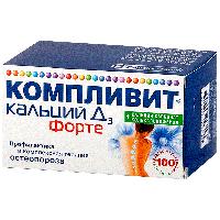 Компливит кальций Д3 форте таб. жев. 500мг+400МЕ №100  (мята)