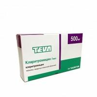 Кларитромицин-Тева таб. п.п.о. 500мг №14