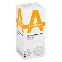 Клотримазол-Акрихин р-р наруж. 1% 15мл №1