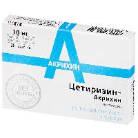 Цетиризин-Акрихин таб. п.п.о. 10мг №20