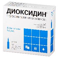 Диоксидин р-р в/полост и наружн 10мг/мл 10мл №10