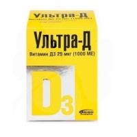 Ультра-Д витамин Д3 таб. жев. 25мкг 1000МЕ 425мг №120