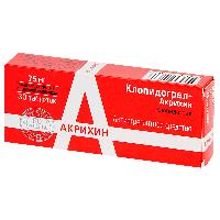 Клопидогрел-Акрихин таб. п.п.о. 75мг №30