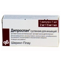 Дипроспан сусп. д/ин 2мг+5мг/мл 1мл №1