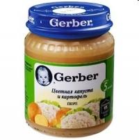 ДП гербер пюре цветная капуста-картофель 130г 5+мес