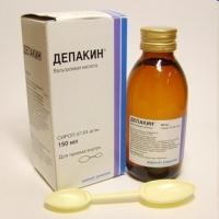 Депакин сироп 57,64мг/мл 150мл №1  (с ложкой)
