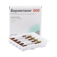 Берлитион 600 конц.д/инф. 25мг/мл 24мл №5