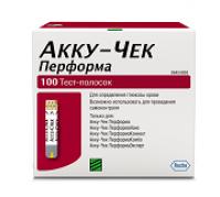Акку-чек перформа тест-полоски д/глюкометра №100