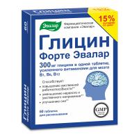 Глицин-форте эвалар таб. д/рассас 0,6г №60