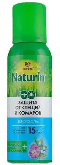 Репеллент гардекс натурин аэрозоль от комаров и клещей на одежду 100мл  (002)