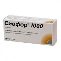 Сиофор 1000 таб. п.о 1000мг №60