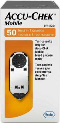 Акку-чек мобайл тест-кассета д/глюкометра №50