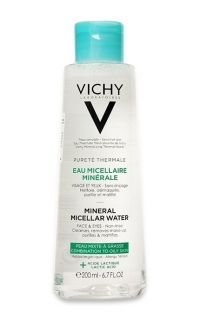 Виши пюрте термаль вода мицеллярная с минералами д/жирной и комбинир кожи 200мл  (MB173800)
