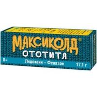 Максиколд Ототита капли ушн. 1%+4% 15мл №1