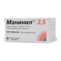 Манинил 3.5 таб. 3,5мг №120