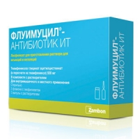 Флуимуцил-антибиотик ИТ пор. д/ин. 500мг №3