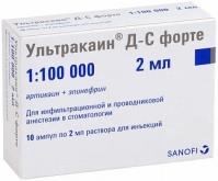 Ультракаин ДС форте р-р д/ин. 2мл №10