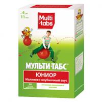 Мульти-табс юниор таб. жев. малина-клубника №30