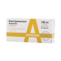Клотримазол-Акрихин таб. ваг. 100мг №6