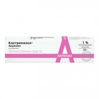 Клотримазол-Акрихин мазь 1% 20г